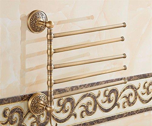 Gäste-handtuchhalter Antik (Antike Badezimmer Handtuchhalter messing Handtuch Stange schwenken Double Bar Badezimmer europäischen vintage Handtuch hängen, 41 * 33 cm)