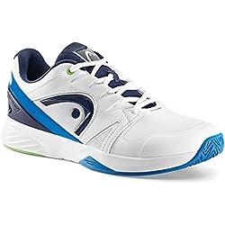Head Nzzzo Team, Zapatillas de Tenis Unisex Adulto, Blanco (White/Ocean Blue), 42 EU