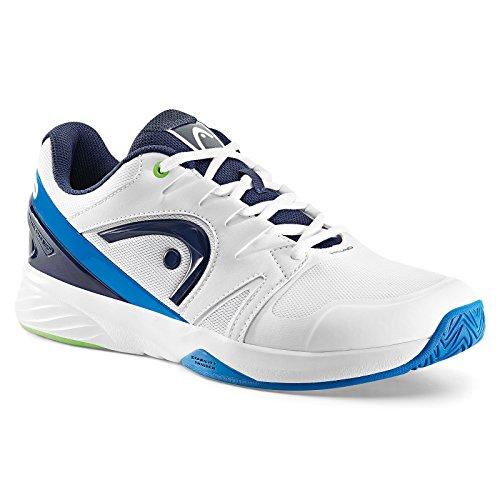 HEAD Nzzzo Team, Chaussures de Tennis Mixte Adulte Blanc (White/ocean Blue)