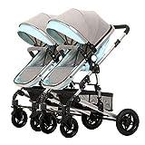 Twin Kinderwagen Light Fold Zwei Kinderwagen Können Sitzen Und Falten Newborn Baby High Landscape Abnehmbare Doppel Kinderauto