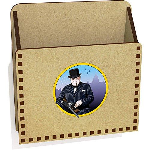 Azeeda 'Winston Churchill' Hölzern Brief Halter / Box (LH00032177)