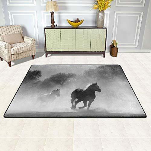 ISAOA Fußmatte, Laufpferd, 91 x 60 cm, Grau -