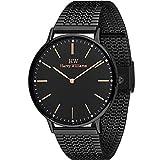 Harry Williams HW. 2014M/27M Herren Uhr mit einem schwarz IP Stahl Mesh Riemen
