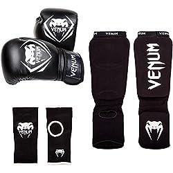Venum Contender Set de Boxeo, Unisex adulto, Negro, 14oz