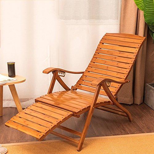 Poltrona da giardino pieghevole \ balcone sedia a dondolo in bambù \ sedia per pausa pranzo \ sedia \ sedia da pranzo in legno massello \ sedia a distanza \ balcone sedia pigra \ poltrona imbottita