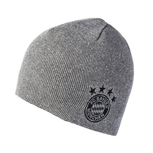 FC Bayern München Mütze Strickmütze Wendemütze Wendebeanie schwarz/grau