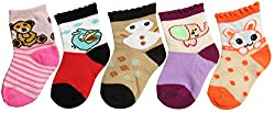 RC. ROYAL CLASS Cotton New born kids socks (2 - 8 months)(pack of 5 pairs)