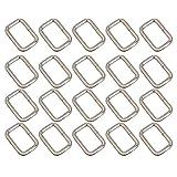 BANGBANG Multifunktions-Gürtelschnalle, rechteckig, Metallring, D-Schnalle, 20 Stück a