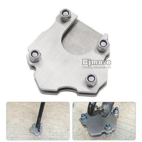 Béquille latérale BJ Global pour moto, support universel, agrandisseur pied, plaque d'extension