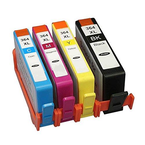 Adidas Ersatz für HP 364364X L Tintenpatronen Kompatibel für HP Photosmart 5510552055226520B8550C5388, HP OfficeJet 4620, HP Deskjet 3070A 4er-Packung