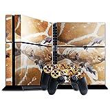 Wilde Tiere 10116, Giraffe, Designfolie Sticker Skin Aufkleber Schutzfolie mit Farbenfrohem Design für Playstation 4 CUH 1200