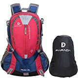 Fafada 25L Impermeabile Zaino di Hiking Trekking Campeggio Viaggi Camping Backpack Zaini da Escursionismo Rosso