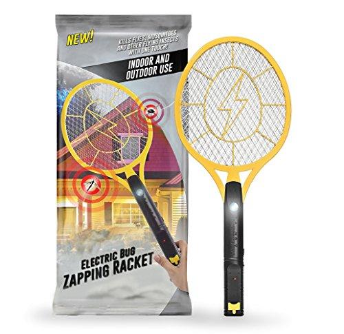 Zapper, elektrische Fliegenklatsche, mit LITHIUM IONEN AKKU, LED Licht, Stromgitter sehr gut geschützt, keine Batterien, Aufladezeit 30 min, Insektenvernichter
