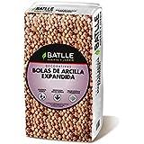 Semillas Batlle 960070PIC - Sustrato bolas arcilla expandida 5L, 32 x 24 x 31 cm, color naranja y turquesa
