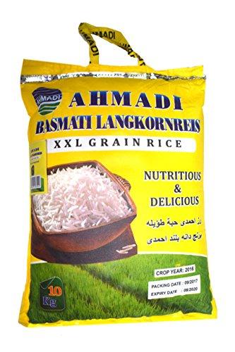 AHMADI Basmatireis Creamy Sella, High Quality, XXL Korn (10 kg)