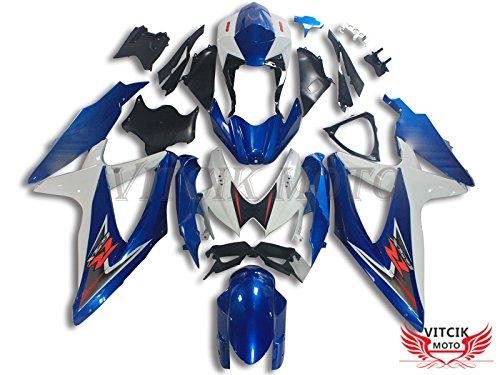 VITCIK (Kit Carenatura Compatibile con Suzuki GSXR600-750 K8 08 09 GSXR 600 750 K8 2008 (Suzuki Gsxr600 Telaio)
