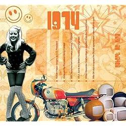 1974 Geburtstag Geschenken - 1974 Chart Hits CD und 1974 Geburtstagskarte