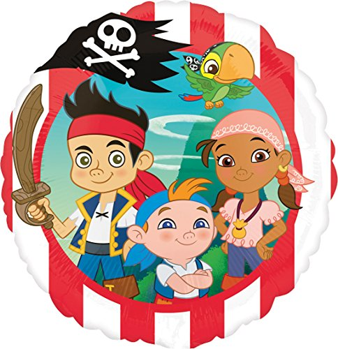 Folienballon * JAKE & NEVERLAND PIRATES * für Kindergeburtstag oder Motto-Party // Folien Ballon Party Helium Deko Ballongas Motto Kinder Nimmerland (Pirate Jake)
