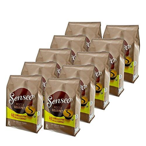 Senseo Kaffeepads Mocca Gourmet, Frisch & Intensiv, Kaffee für Kaffepadmaschinen, 480 Pads