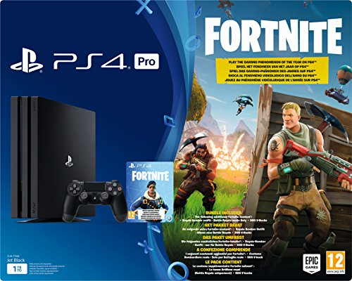 PlayStation 4 Pro - Konsole (1TB) Fortnite Royal Bomber Pack Bundle inkl. 1 DualShock 4 Controller