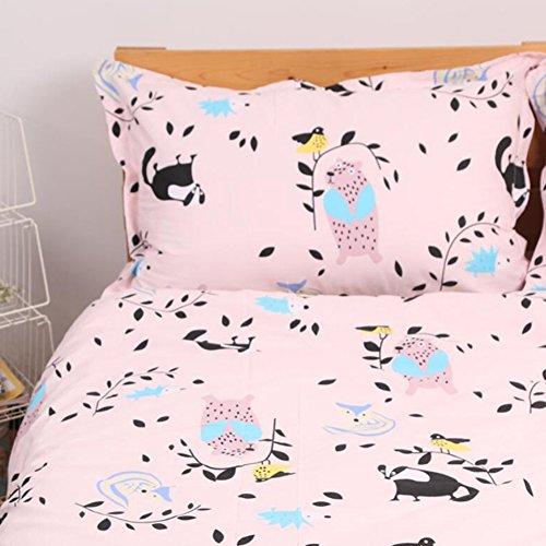 Eulen Für Twin-bett-sets Mädchen (memorecool Haustierhaus Kissenbezüge 1Stück Cute Cartoon Racoon Spielen mit Birds Rosa Hintergrund 100% Baumwolle Heimtextilien 48,3x 73,7cm, baumwolle, pillowcase, 19x29inch)