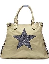 Vain Secrets Sternen Shopper Damen Handtasche mit Schulterriemen