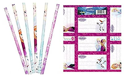 Disney Frozen Frozen de lápices y Pliego de pegatinas 12piezas obsequios de Sambro