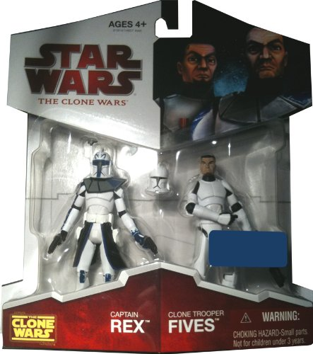 Hasbro 91914 - Star Wars - Captian Rex und Clone Trooper Fives