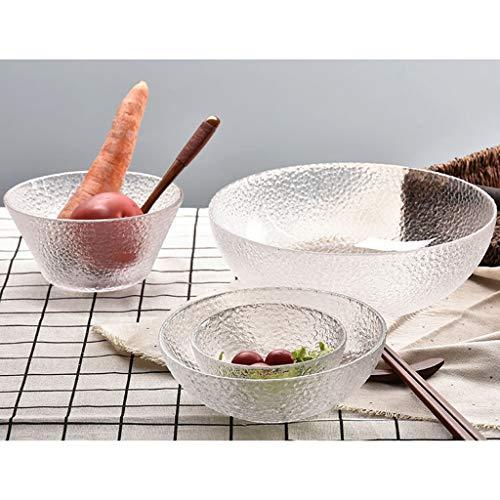LiLin Gehämmert Glasschüssel Set Salatschüssel Home Holiday Dekoration Geschirrspüler (4 Packs) (größe : 2 Packs)