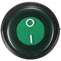 ungfu Mall 1PC 3-Pin SPST 12V 12A LED On/Off interruptor iluminado impermeable