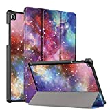 FSCOVER Custodia Cover per Samsung Galaxy Tab A 10.1 2019 (SM-T515/T510), Slim Smart Protettiva Custodia Cover in Pelle PU, Galassia