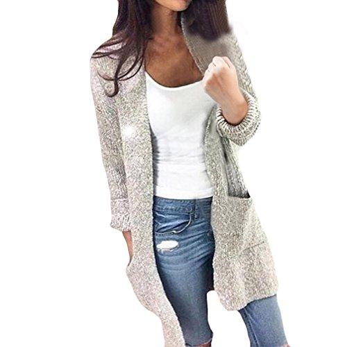 Damen Cardigan Strickmantel Und Lange Abschnitte Sweater Feinstrick-Cardigan Cute Strickpullover Knit GestricktePulloverOutwear Outdoorjacke Langarm Normallacks
