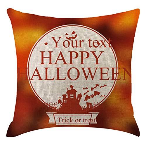 Lazzboy Halloween Kürbis Kissenbezug Kissenbezüge Dekorative Sofakissenbezug Lendenkissen Sofa Kissenhuelle Haus Zimmer Deko(H)