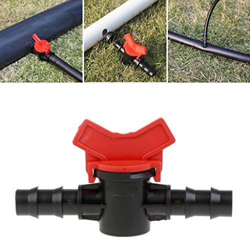 Manyo 1 Stück Garten Wasserhahn-  Bewässerung Wasserschlauch Ventilschalter, 2-Wege-Anschluss, Kunststoff. -