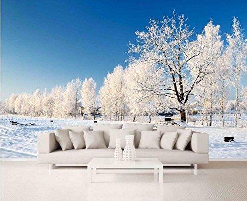 HHCYY Personalisierte 3D-Tapete, Schnee Landschaft Schönen Hintergrund, 3D Wandbild-250cmx175cm