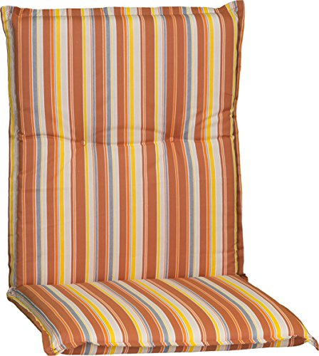 Beo Gartenstuhlauflage Polster für Niederlehner Feine Orange Streifen mediterraner Look