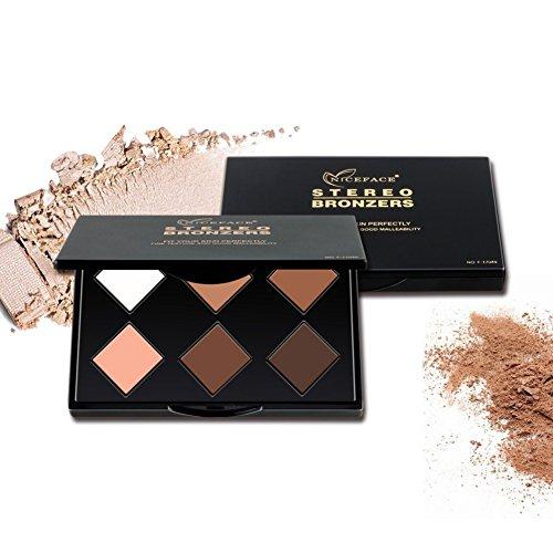 Base Foundation Palette Yiitay 6 Couleur Surligneur Professionnel Poudre Kit Maquillage Ensemble Beauté Cosmétiques Maquillage Palette
