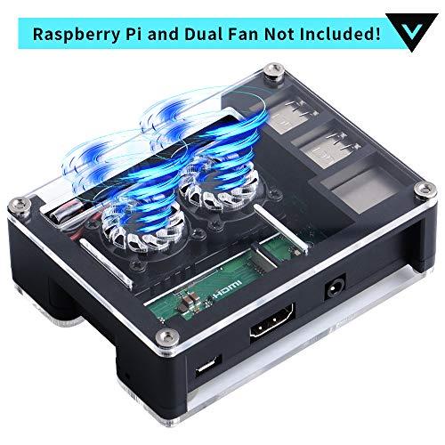 Doppel-lüfter (GeeekPi Tasche für Raspberry Pi 3 B + und Raspberry Pi 3/2 Modell B, auch passend für Raspberry Pi Dual Fan Doppel-Lüfter)