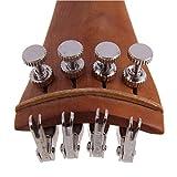 MagiDeal Zubehör Set für 4/4 Violine, inkl.Kinnrest, Saitenhalter, Schwanzgut, Endpin, Schrauben 4× Stimmbolzen, 4×Feinstimmer, 4× Saiten