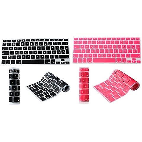2 PCS Española Cubierta del teclado / Keyboard Cover para MacBook Pro 13