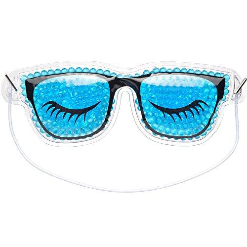 La Chaise Longue 36-1S-005 Masque Yeux relaxant et dynamisant Lunettes Bleu et noir Traitement chaud ou froid anti-cernes anti-rides cryo-relaxation