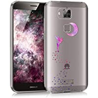 kwmobile Funda para Huawei G8 / GX8 - Case para móvil en TPU silicona - Cover trasero Diseño Hada en rosa fucsia violeta transparente