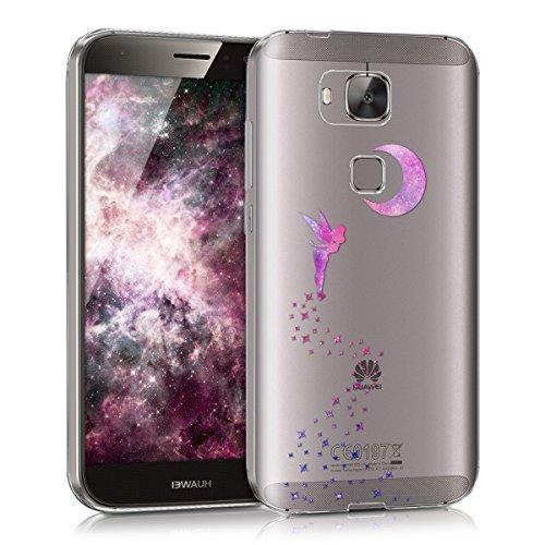 kwmobile Huawei G8 / GX8 Hülle - Handyhülle für Huawei G8 / GX8 - Handy Case in Pink Violett Transparent