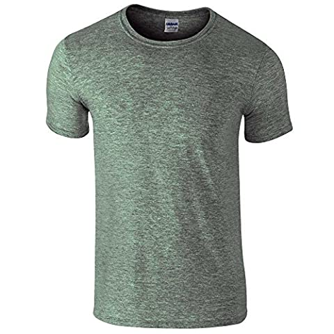 Gildan Men's Adult 160Gsm T-Shirt, Green (Heather Military Green), Large