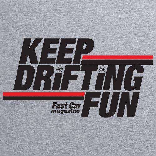 Keep Drifting Fun T-Shirt, Damen Grau Meliert