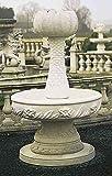 Brunnen, Gartenbrunnen, Zierbrunnen, fountain, Palme Farbe sandstein