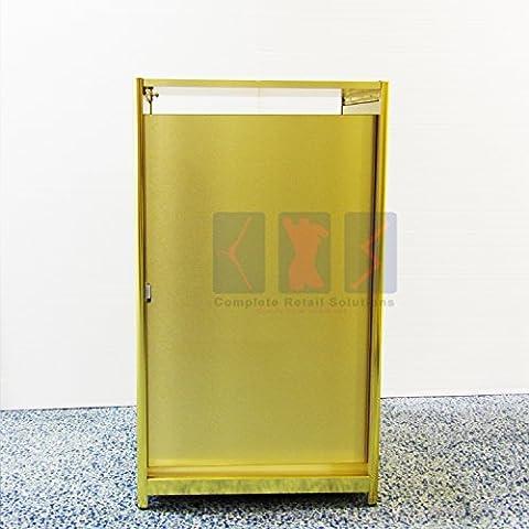 Shop Armoire couleur or Lot de vitrine en verre Vitrine Étagères POS