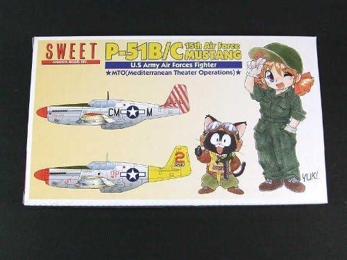 (Deux avions en kit de modle en plastique) 1/144 1/144 1/144 P-51B / C 15 Air Force Mustang (14118) (japan import) B003NIOKHK 98ac22