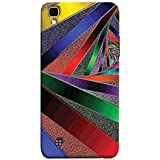 Printfidaa New Textile Fabric in Multicoloured Stripes Print Designer Back Cover for LG X Power, K220DS K220