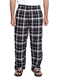 Twist Men's Black Checked 100% Cotton Pyjama Sleepwear Night Wear With Contrast & Free Shipping